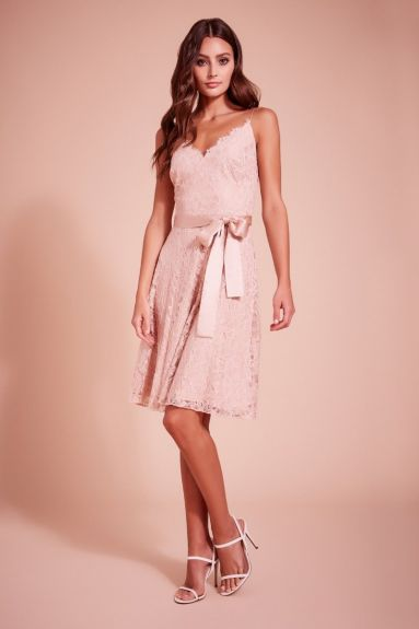 SHO The Label - Kendall Strap Lace Cocktail Dress