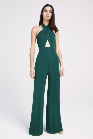 SHO The Label - Amber Crepe Cutout Halter Jumpsuit