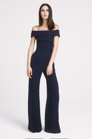 SHO The Label - Tyra Crepe Off-The-Shoulder Jumpsuit