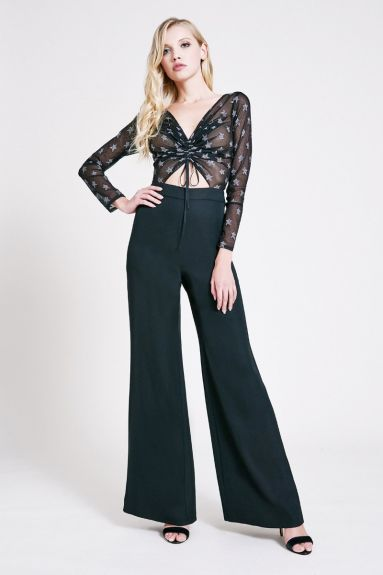 SHO The Label - Karlie Metallic Star Tie-Front Jumpsuit