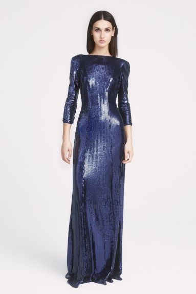 SHO The Label - Taylor Sequin Open-Back Gown