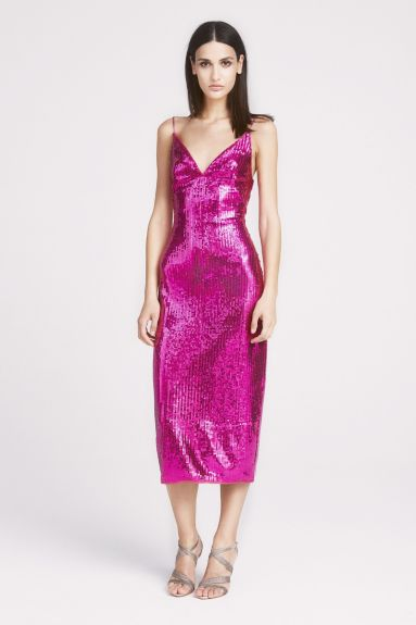 SHO The Label - Kylie Sequin Strap Midi Dress