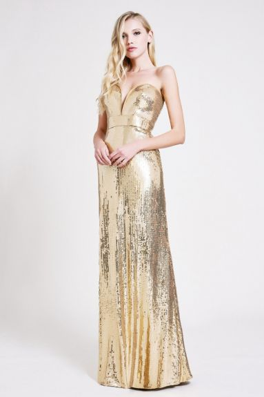 SHO The Label - Adriana Sequin Strapless Gown