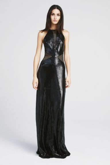SHO The Label - Tara Halter Sequin Gown