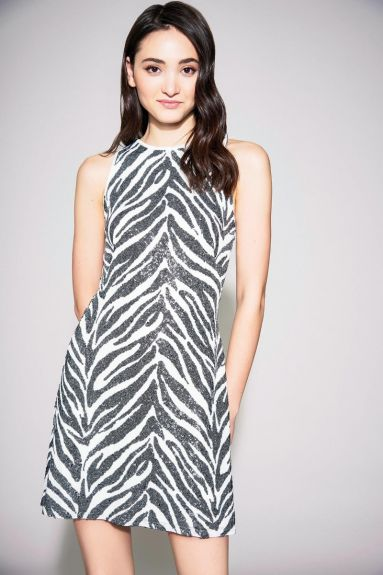 SHO The Label - Reid Zebra Print Halter Mini Dress