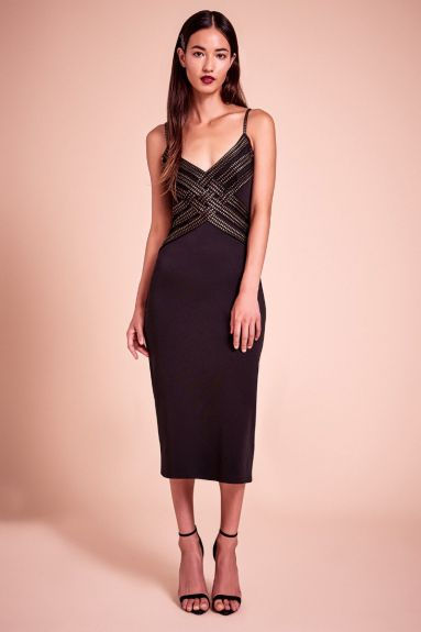 SHO The Label - Jackson Foil Jersey Dress