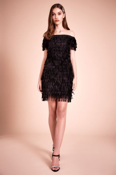 SHO The Label - Roxette Laser Cut Fringe Dress