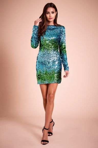 SHO The Label - Santana Ombré Mini Dress