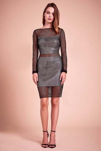 SHO The Label - Summer Metallic Set Fishnet Dress