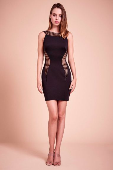 SHO The Label - Ripple Neoprene Cutout Dress