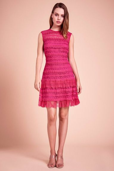 SHO The Label - Pointer Pleated Ruffle Dress