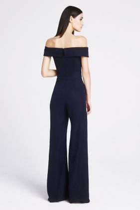 Tyra Crepe Off-The-Shoulder Jumpsuit