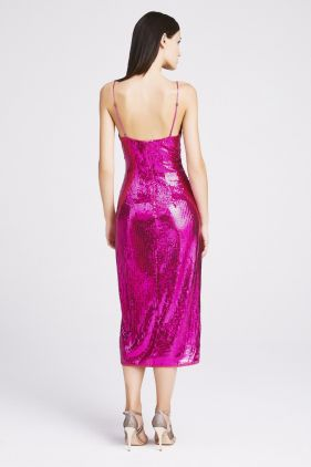 Kylie Sequin Strap Midi Dress
