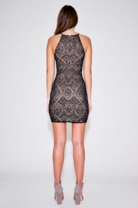 Crawford Halter Lace Mini Dress
