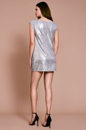 Coco Sequin Off-the-Shoulder Mini Dress